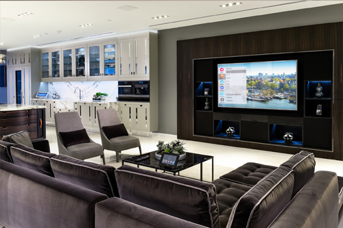 home automation controls the lighting system and the automatic shades